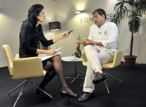 Entrevista al Presidente de Ecuador